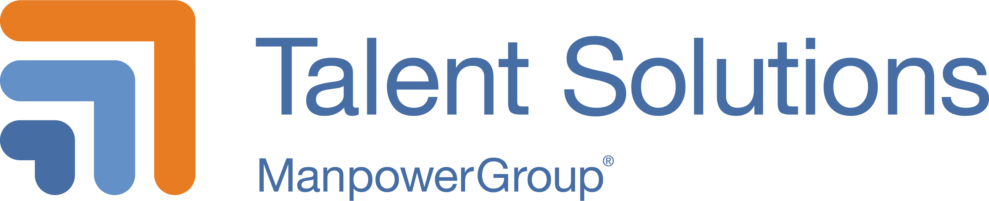 ManpowerGroup Talent Solutions Web Horizontal Logo for Light Background